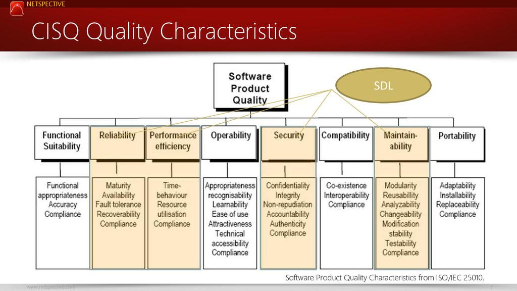 NETSPECTIVE www.netspective.com 7 CISQ Quality ...