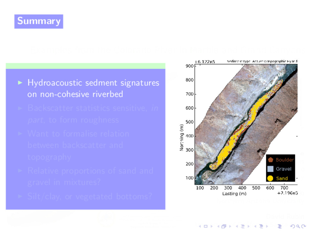 Summary Hydroacoustic sedment signatures on non...