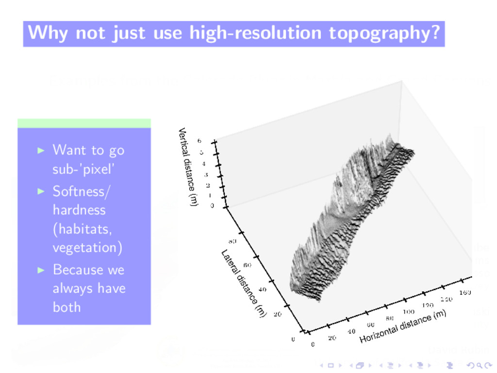 Why not just use high-resolution topography? Wa...