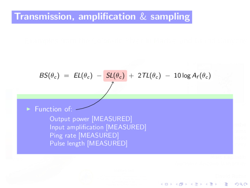Transmission, amplification & sampling BS(θc ) =...