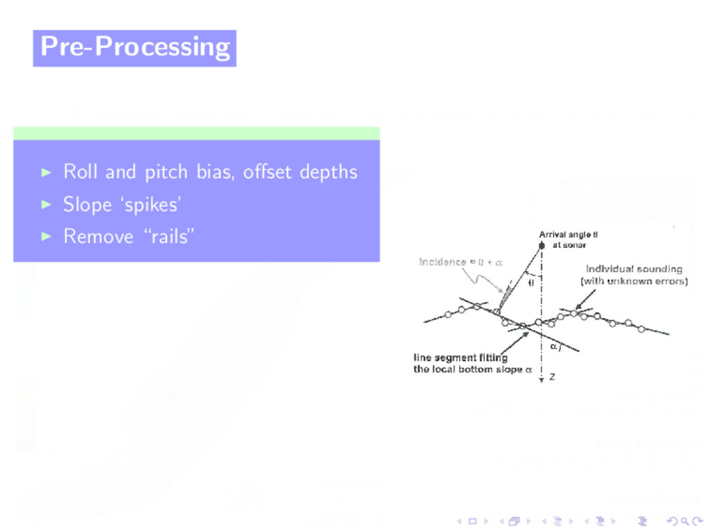 Pre-Processing Roll and pitch bias, offset depth...