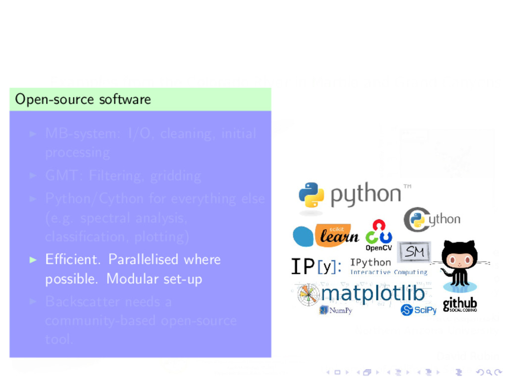 Software Open-source software MB-system: I/O, c...