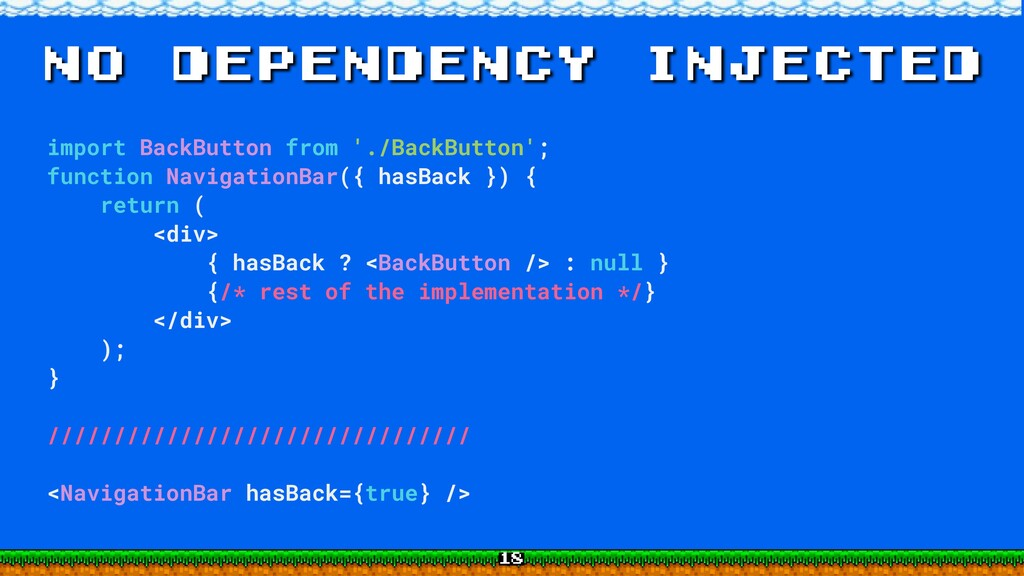 no dependency injected import BackButton from '...