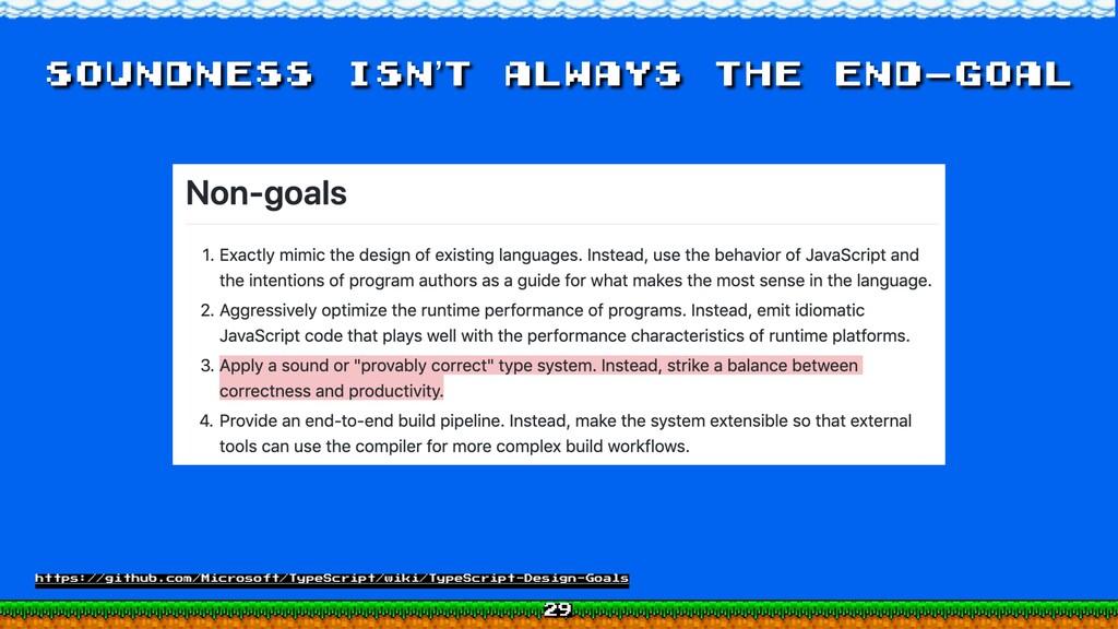 Soundness isn't always the end-goal https://git...