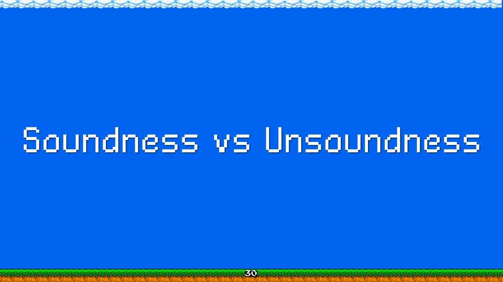 Soundness vs Unsoundness 30