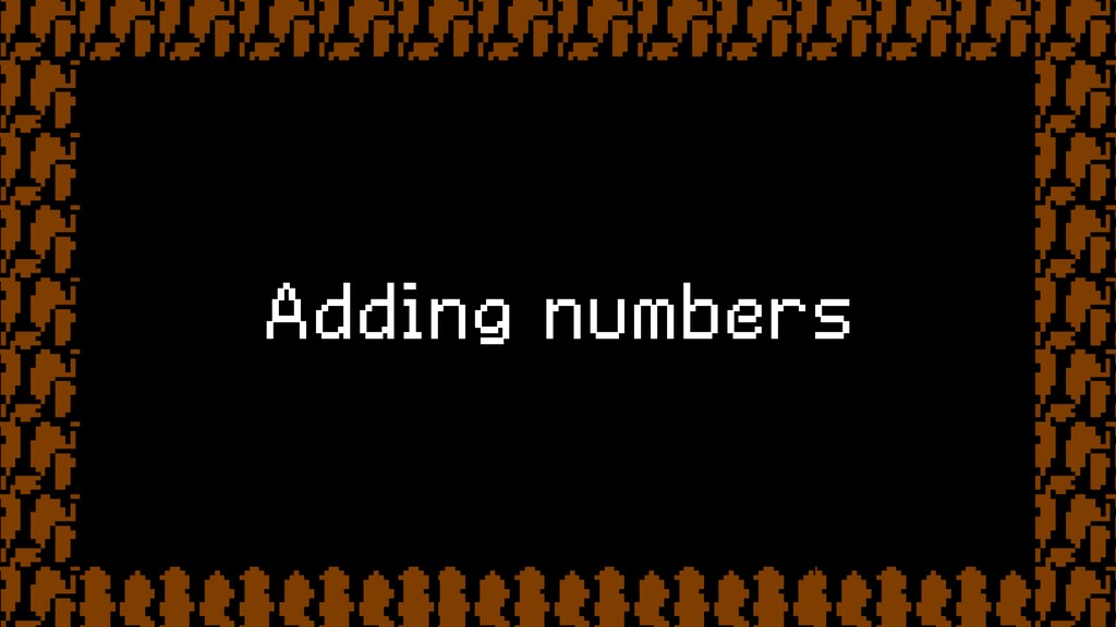 Adding numbers