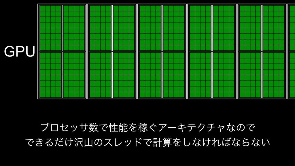 GPU ϓϩηοαͰੑΛՔ͙ΞʔΩςΫνϟͳͷͰ Ͱ͖Δ͚ͩͷεϨουͰܭΛ͠ͳ͚...