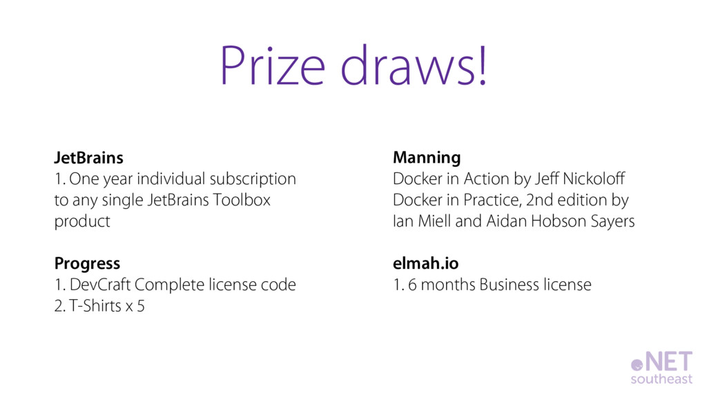 JetBrains 1. One year individual subscription t...