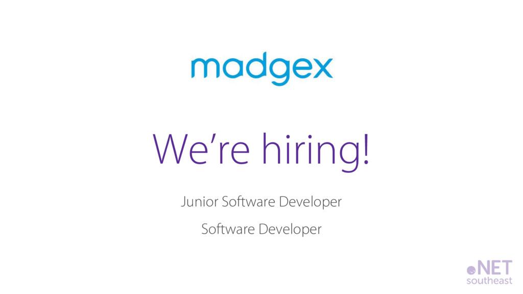 Junior Software Developer Software Developer We...