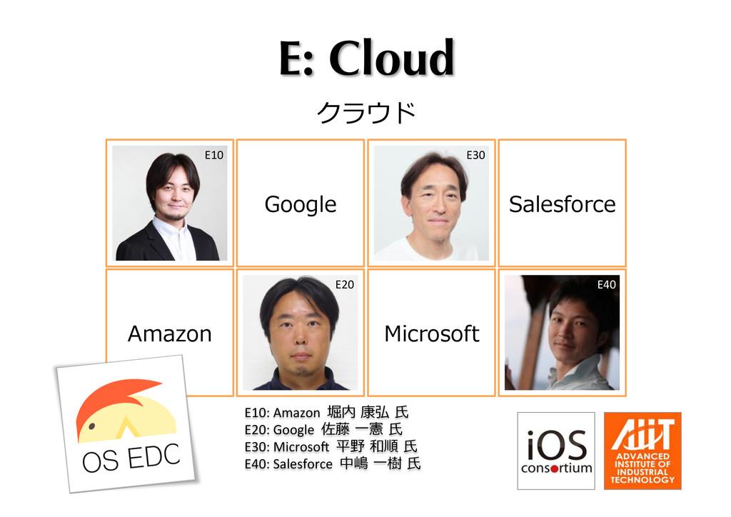 E: Cloud クラウド Microsoft Google Salesforce Amaz...