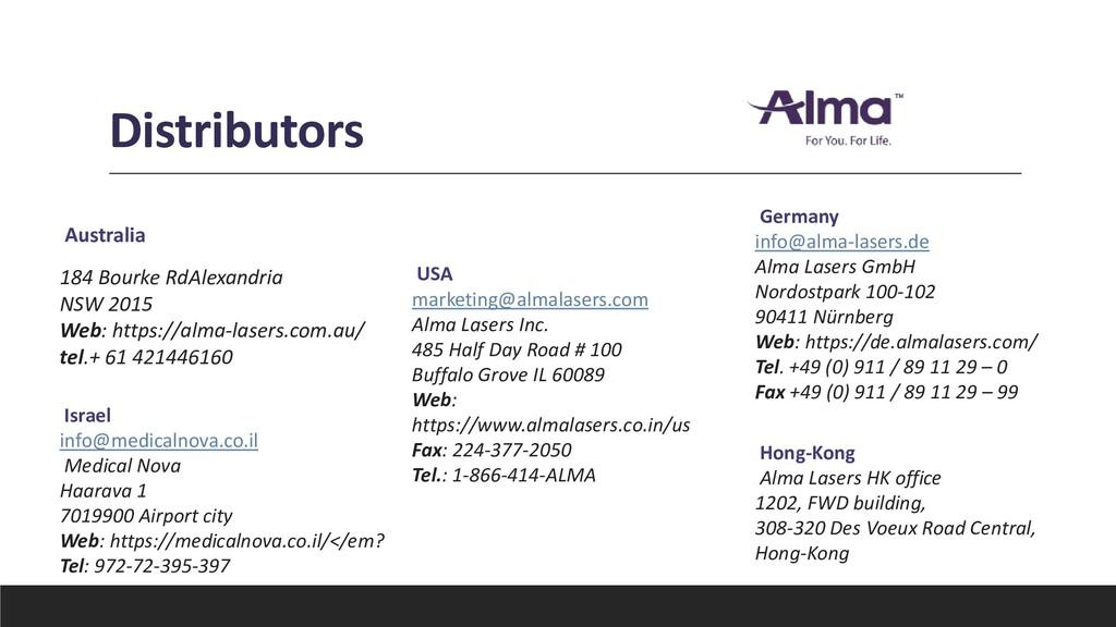 Distributors Australia 184 Bourke RdAlexandria ...