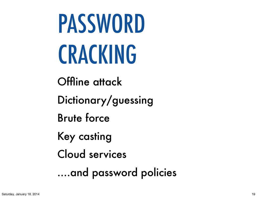 PASSWORD CRACKING Offline attack Dictionary/gues...