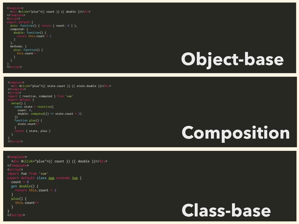 "<template> <div @click=""plus"">{{ count }} {{ do..."
