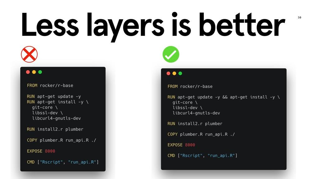 30 @tudosgar | tamaszilagyi.com Less layers is ...