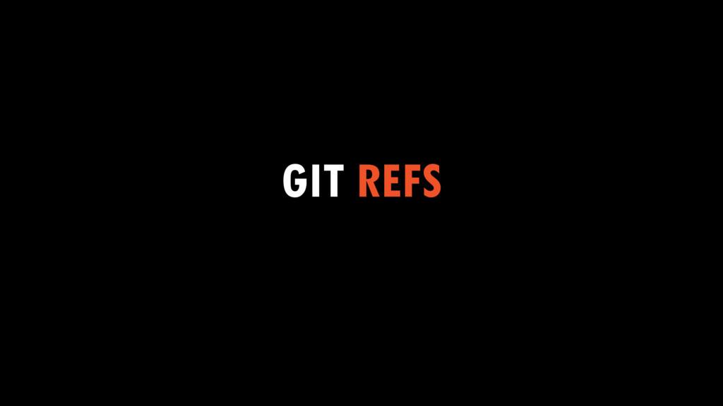 GIT REFS