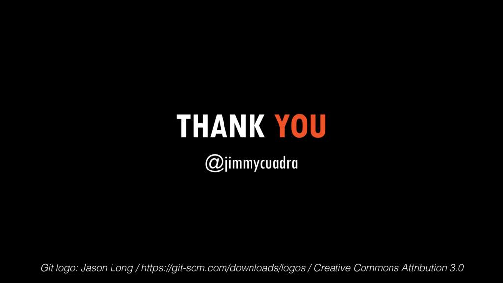 THANK YOU @jimmycuadra Git logo: Jason Long / h...
