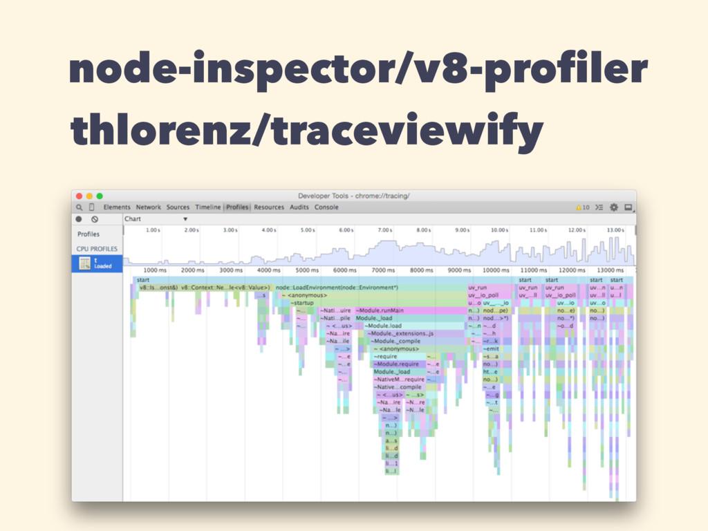 node-inspector/v8-profiler thlorenz/traceviewify