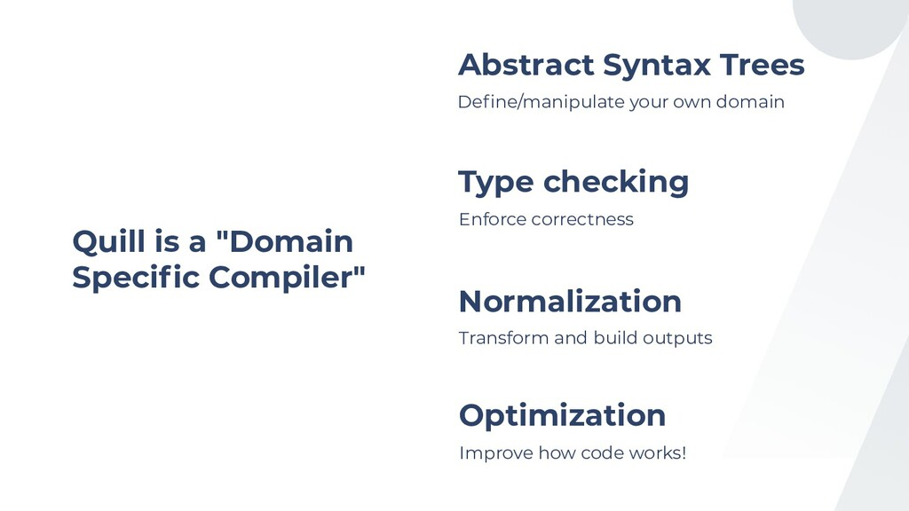 """Quill is a """"Domain Specific Compiler"""" Define/mani..."""