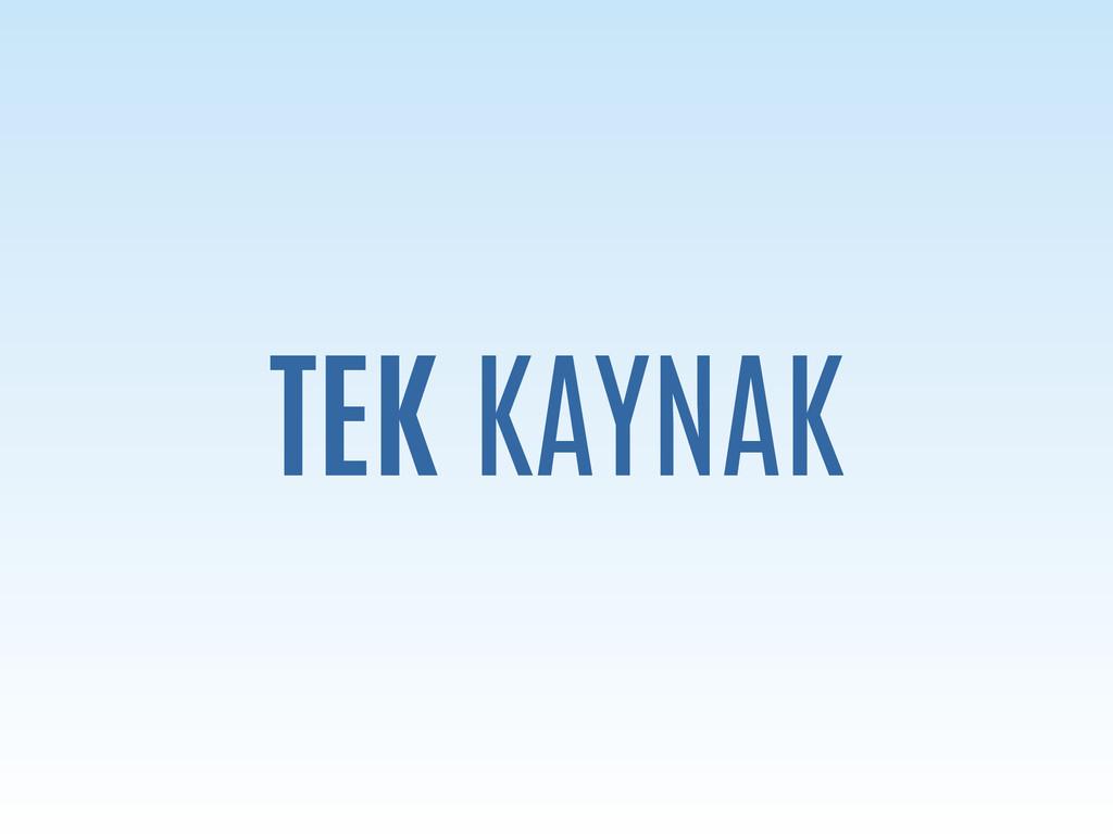 TEK KAYNAK