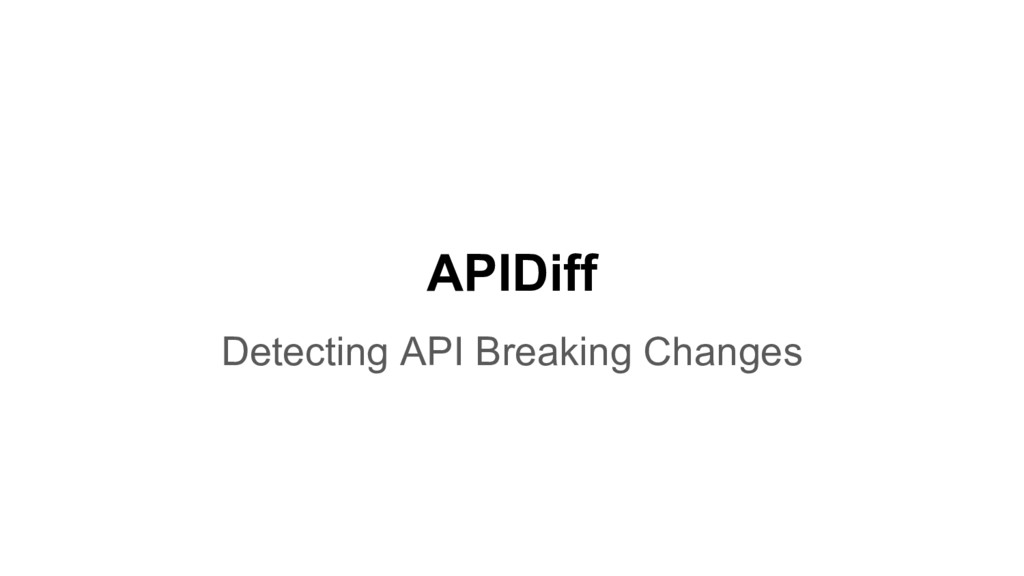 APIDiff Detecting API Breaking Changes