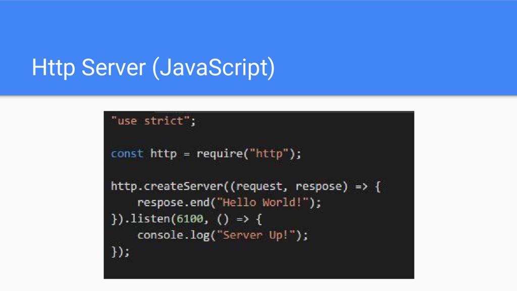 Http Server (JavaScript)