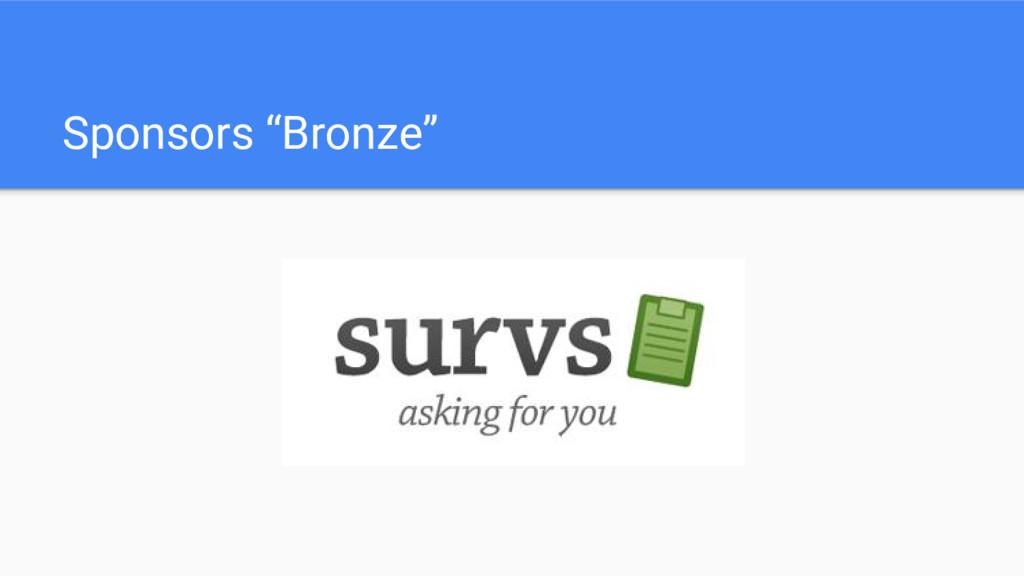 """Sponsors """"Bronze"""""""