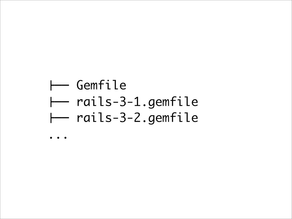 "!"""" Gemfile !"""" rails-3-1.gemfile !"""" rails-3-2..."