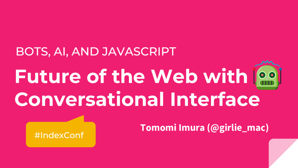 Future of the Web with Conversational Interface...