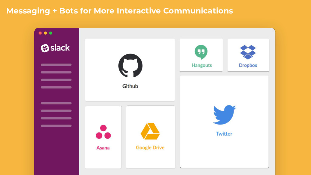 Messaging + Bots for More Interactive Communica...