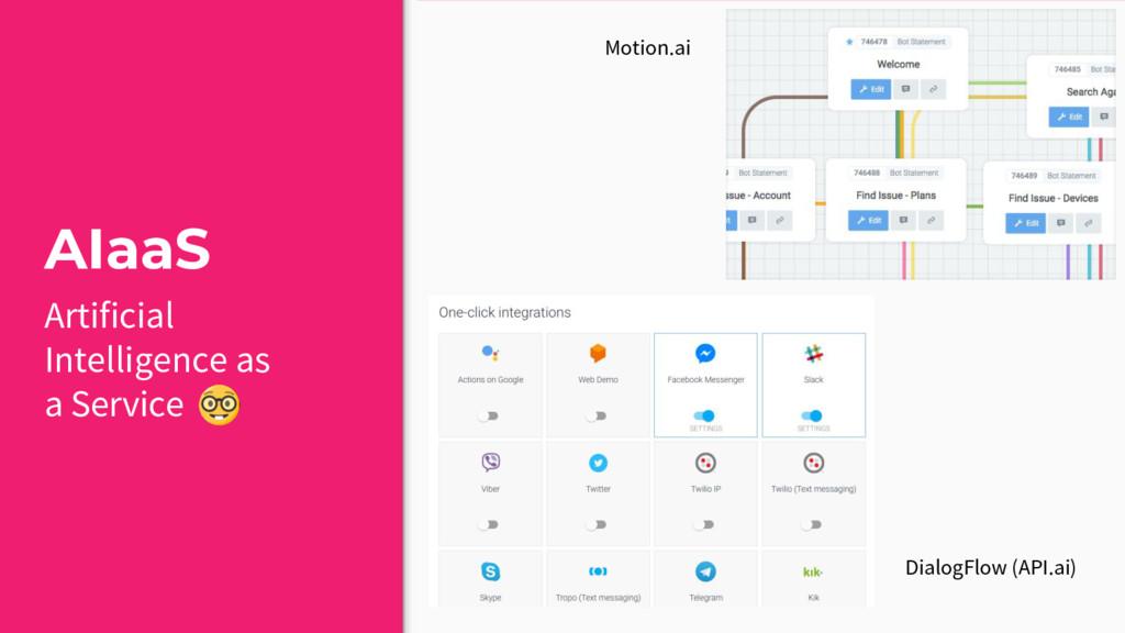AIaaS Motion.ai DialogFlow (API.ai) Artificial ...