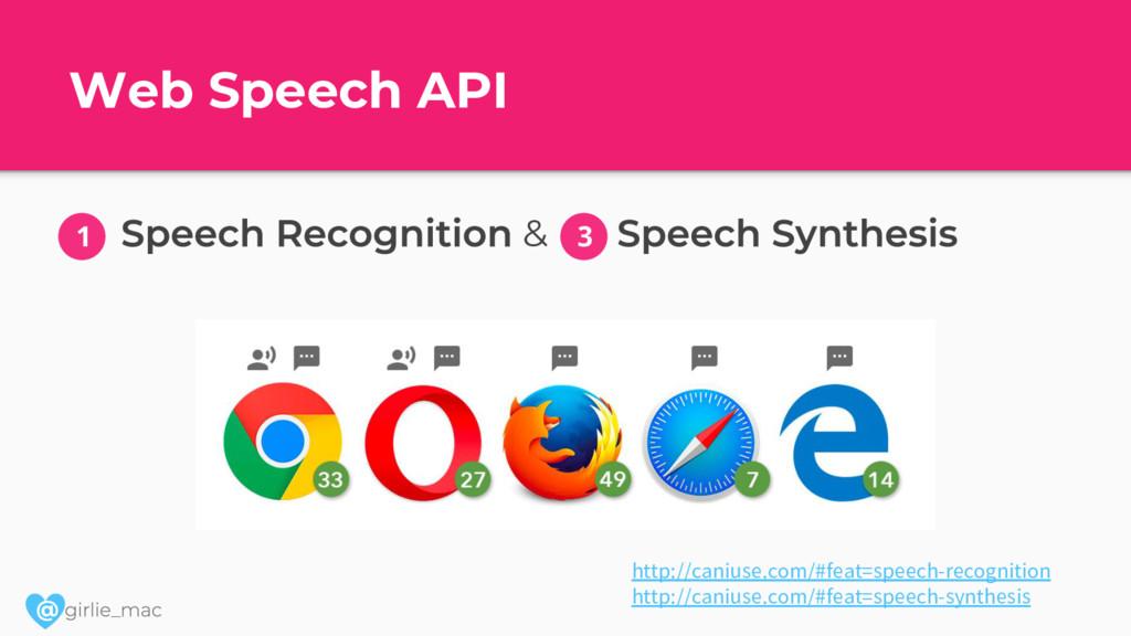@ Web Speech API & http://caniuse.com/#feat=spe...