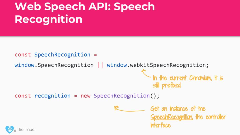 @ Web Speech API: Speech Recognition const Spee...