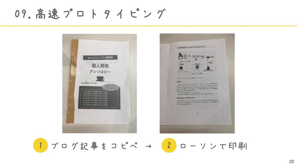 09.高速プロトタイピング ブログ記事をコピペ →   ローソンで印刷 1 2