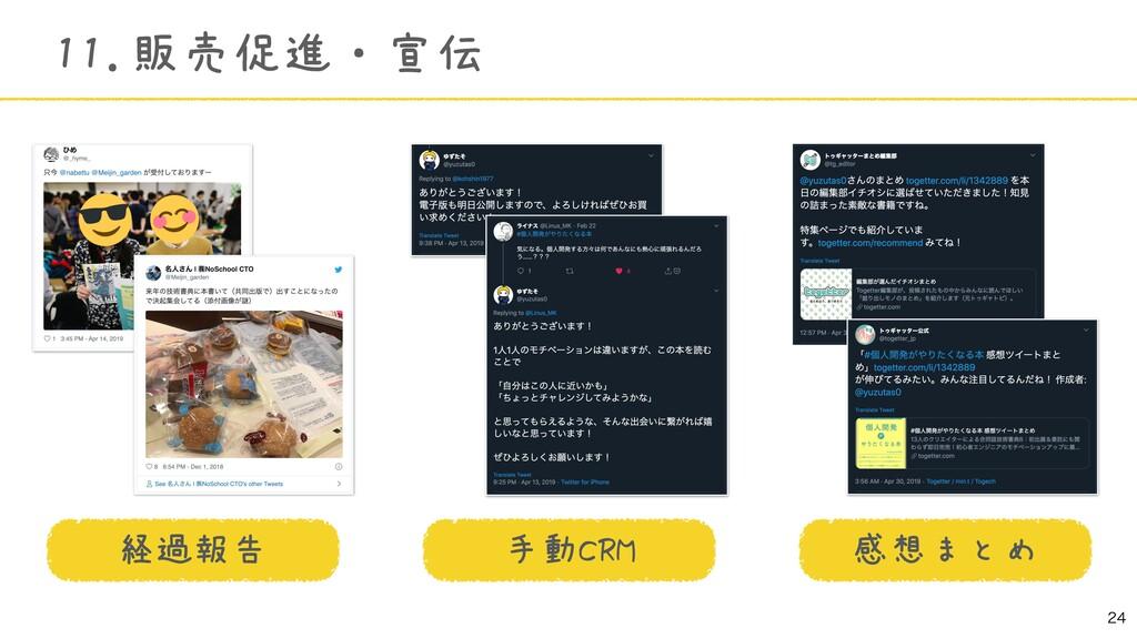 11.販売促進・宣伝 手動CRM 感想まとめ 経過報告