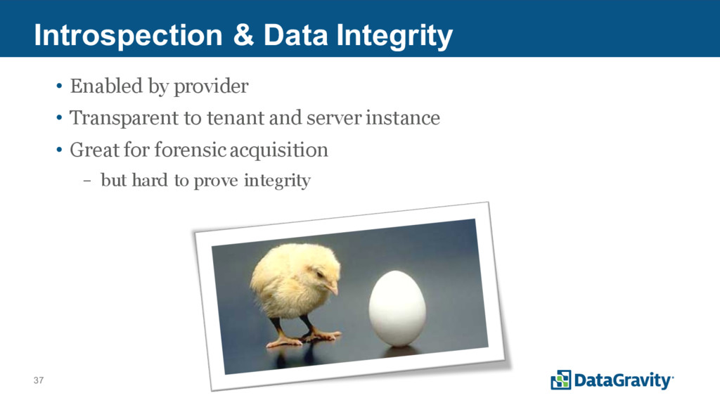 37 Introspection & Data Integrity • Enabled by ...