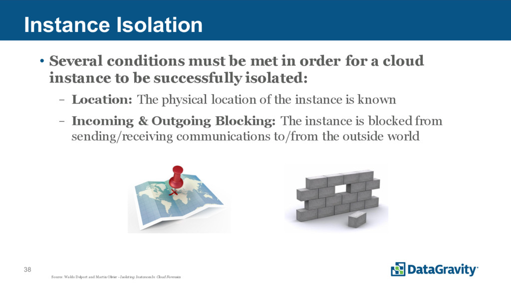 38 Instance Isolation • Several conditions must...