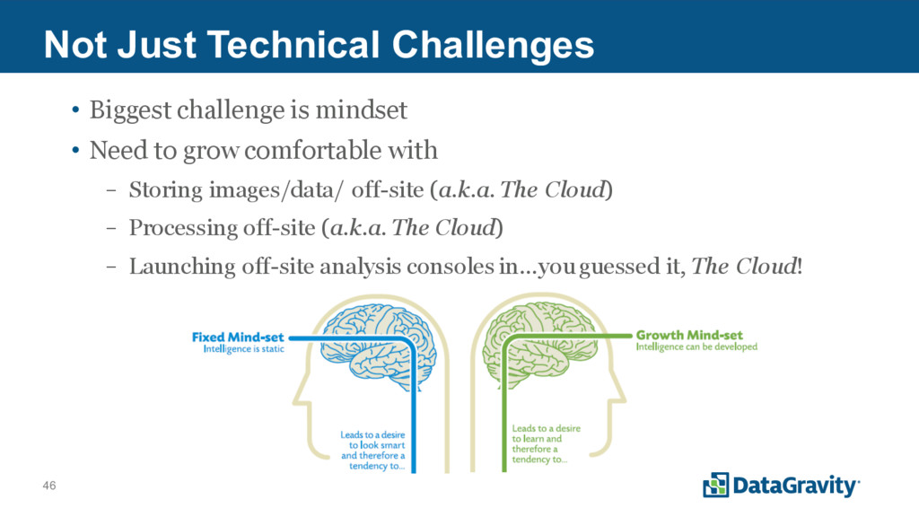 46 Not Just Technical Challenges • Biggest chal...