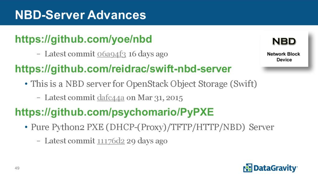 49 NBD-Server Advances https://github.com/yoe/n...