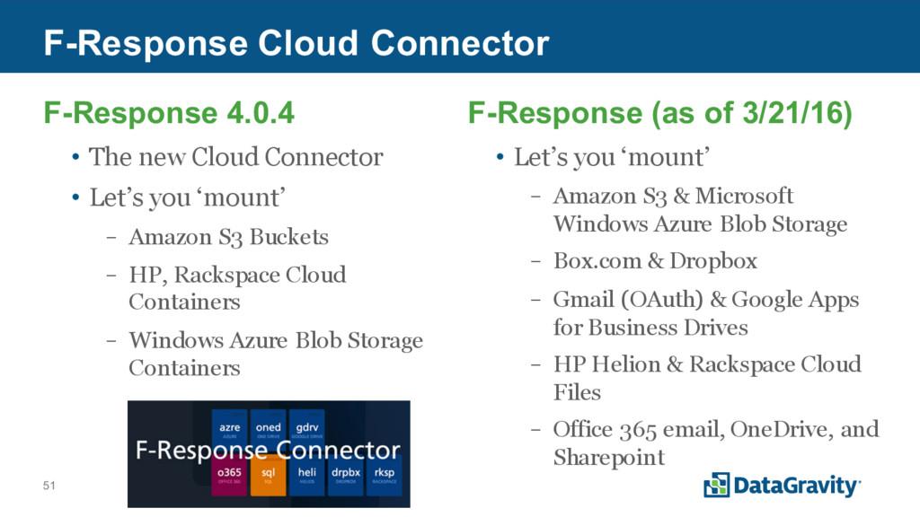 51 F-Response Cloud Connector F-Response 4.0.4 ...