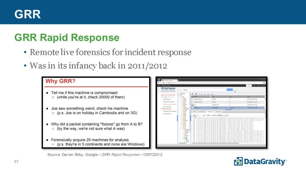 57 GRR GRR Rapid Response • Remote live forensi...