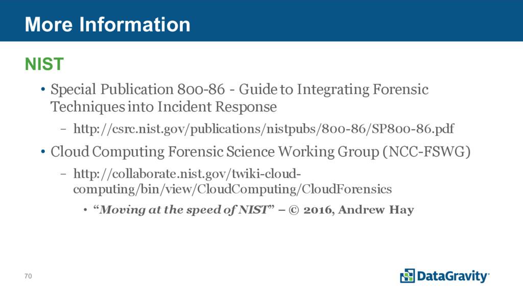 70 More Information NIST • Special Publication ...