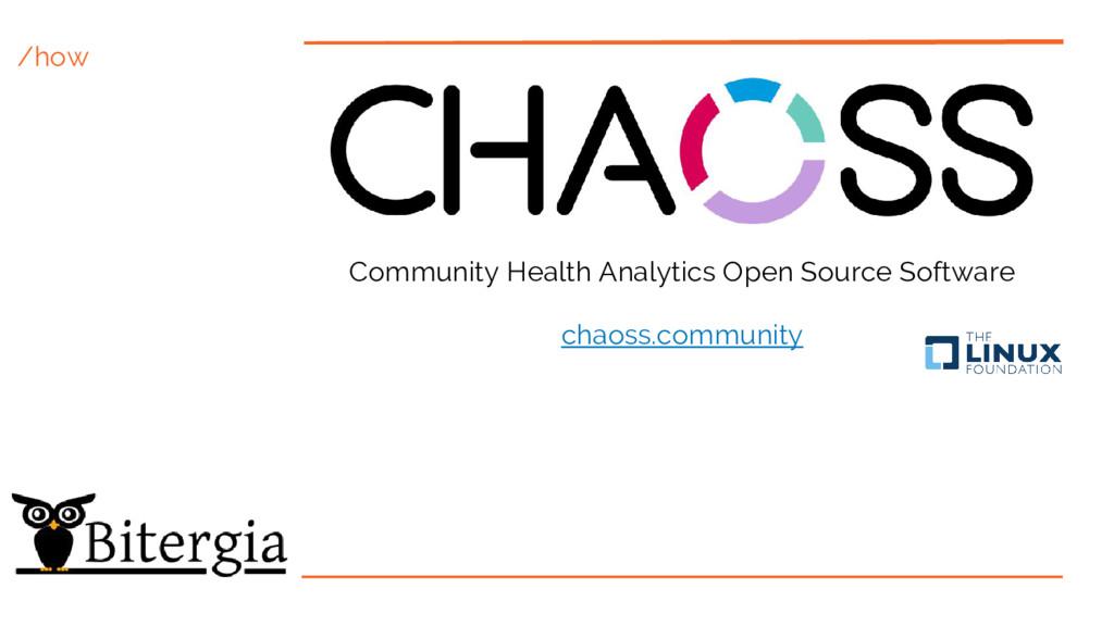 /how Community Health Analytics Open Source Sof...