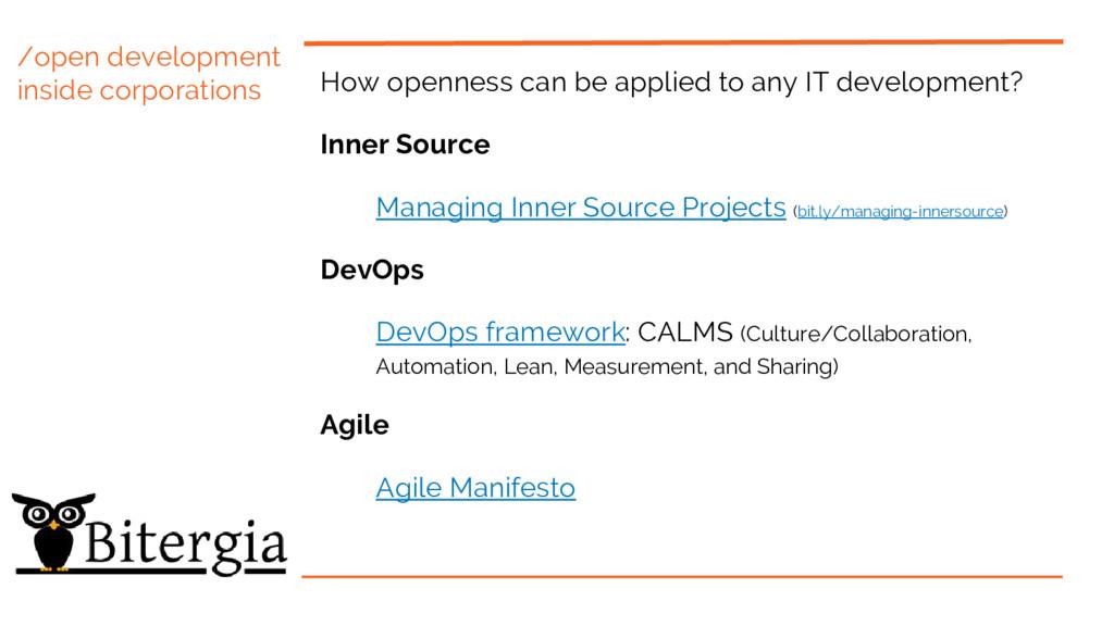 /open development inside corporations How openn...