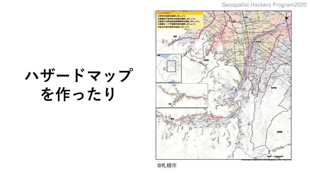 Geospatial Hackers Program2020 ハザードマップ を作ったり ©札...