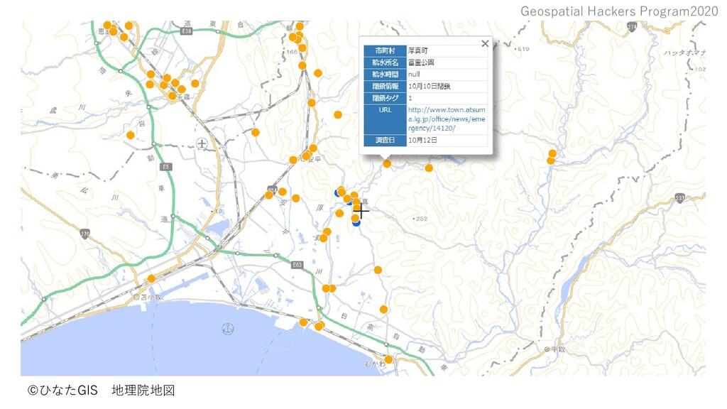 Geospatial Hackers Program2020 ©ひなたGIS 地理院地図