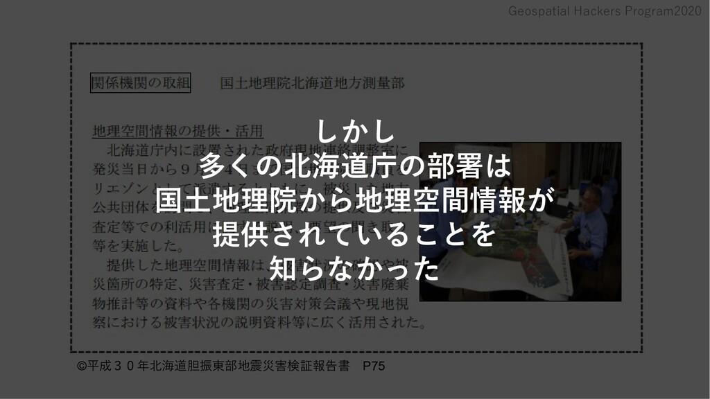 Geospatial Hackers Program2020 ©   平成30年北海道胆振東部...
