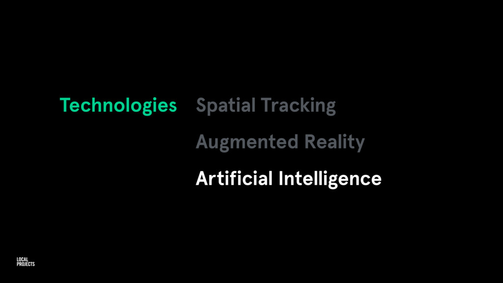 Technologies Spatial Tracking Augmented Reality...
