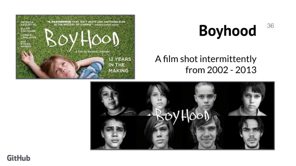 Boyhood A film shot intermittently from 2002 - ...