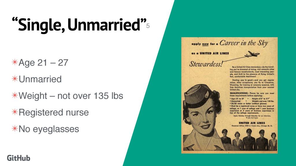 """""""Single, Unmarried""""5 GitHub ✴Age 21 – 27 ✴Unmar..."""