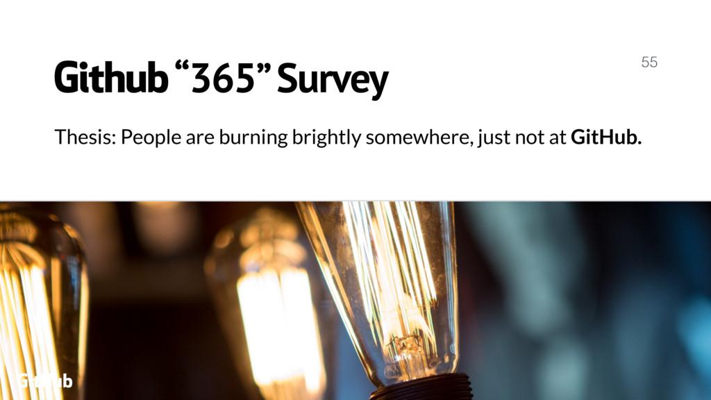 """Github """"365"""" Survey 55 GitHub Thesis: People ar..."""